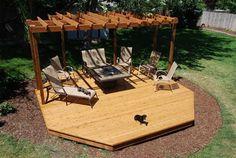 An island deck. Something fun for the backyard