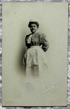 Maid Domestic Servant Real Photo RPPC Postcard, Binghamton NY, Victorian Edwardian c1910 by OakwoodView on Etsy, $9.00