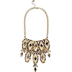 Tory Burch - Gold-Plated Bib Necklace Acetate - $130.00 (60% off)