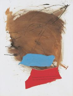"""herzogtum-sachsen-weissenfels: """" Robert Motherwell (American, 1915-1991), Untitled, 1959. Gouache, pasted papers, and ink on paperboard, 70.8 x 55.2 cm. """""""