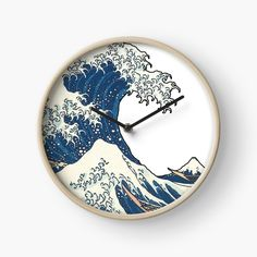 The Great Wave Off Kanagawa by ind3finite | Redbubble Great Wave Off Kanagawa, Ocean Waves, Top Artists, Clocks, Sea Waves, Tag Watches, Watch, Waves