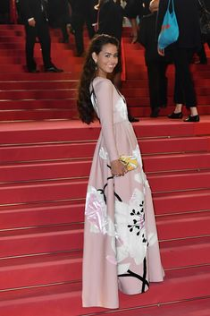 Maria Thelma Smáradóttir hit the red carpet for the 'The Spy Gone North (Gongjak)' premiere in a Valentino Fall/Winter floral intarsia dress designed by Pierpaolo Piccioli. Fashion Line, Runway Fashion, Fashion Show, Womens Fashion, Paris Fashion, Pink Gowns, Italian Fashion Designers, Cannes Film Festival, Dream Dress