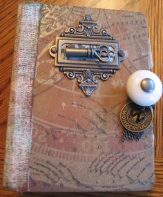 I love the doorknob embellishment idea as the opening of the book