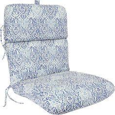 Deluxe Chair Cushion, Multiple Patterns: Patio & Outdoor Decor : Walmart.com in Tobara Atlantic, $35