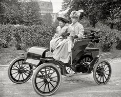 A Pope-Waverley electric auto, Washington, D.C., circa 1905.  junipergallery Fine-Art Prints by Juniper Gallery