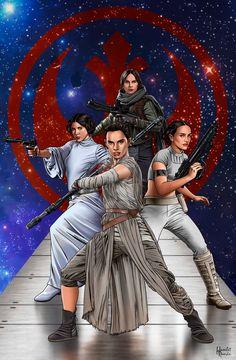 Star Wars Rebel Force Girls by hamletroman