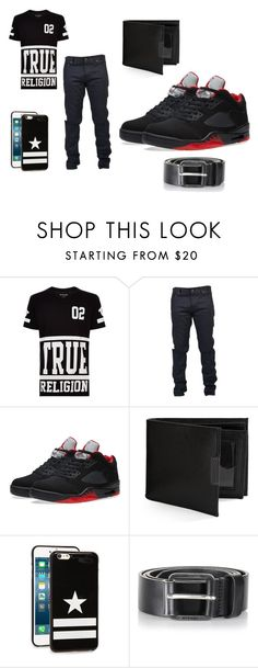 """""""MEN WEAR"""" by emojiqveen ❤ liked on Polyvore featuring True Religion, Yves Saint Laurent, NIKE, Perry Ellis, Givenchy, Diesel, men's fashion and menswear"""
