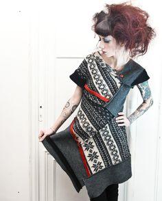 Abito lana cotta e maglia norvegese di Riciclabo' Design su Blomming