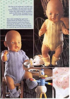 Ideas Baby Born Doll Clothes Patterns Free For 2019 Knitting Dolls Clothes, Crochet Doll Clothes, Doll Clothes Patterns, Crochet Dresses, Baby Born Clothes, Girl Doll Clothes, Diy Clothes, Dress Clothes, Baby Girl Dolls