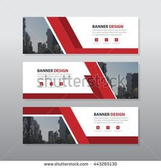 Red banner template vector horizontal banner brochure flyer design red abstract corporate business banner template horizontal advertising business banner layout template flat design set clean geometric abstract cover wajeb Choice Image