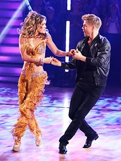 Amy Purdy and Derek Hough She says there are perks to competing in DWTS on prosthetic legs