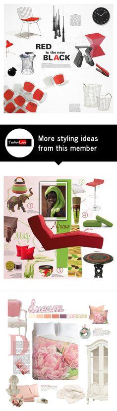 """Aluminium Mesh and Red or Black"" by fl4u on Polyvore featuring interior, interiors, interior design, home, home decor, interior decorating, Sunpan, Dot & Bo, Delightfull and Bover"