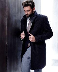 RJ Rogenski Models Sleek BOSS by Hugo Boss Suits