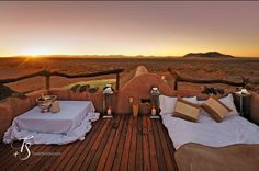 Are you ready for your desert experience at the supremely elegant and romantic Little Kulala? Because your rooftop starbed is ready for you! #Namibia #Sossusvlei