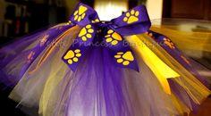 Custom LSU Tutu Purple Yellow Paw Prints by PetitePrincesseTutus, $25.00