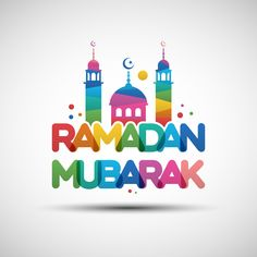 Vector Illustration of Ramadan Mubarak greeting card design with creative multicolored transparent text for holy month of muslim community Ramadan Mubarak Wallpapers, Happy Ramadan Mubarak, Ramadan Greetings, Eid Mubarak Greetings, Mubarak Images, Image Ramadan, Ramadan Images, Ramadan Sweets, Ramadan Cards