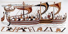 Part of the Bayeux tapestry, a 230 foot long English tapestry of the events leading to an up to the Battle of Hastings in 1066