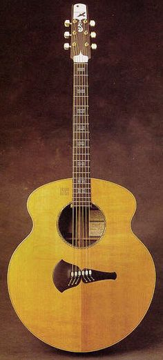 Acoustic guitar built for Joni Mitchell by Steve Klein in 1977 Gorgeous