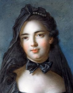 Jean-Marc Nattier - Portrait of Marie (Sophie) Charlotte de La Tour d'Auvergne, Princess of Beauvau, ca. 1750