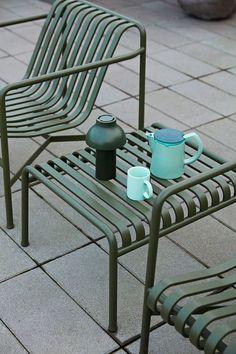 Outdoor Furniture Design, Garden Furniture, Metal Dining Table, Outdoor Chairs, Outdoor Decor, Lighting Sale, Ottoman, Scandinavian Design, Scandinavian Apartment