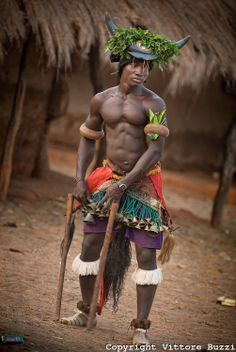 Africa   Dancer.  Bijagos Islands, Guinea Bissau   ©Vittore Buzzi   - Explore the World with Travel Nerd Nici, one Country at a Time. http://TravelNerdNici.com