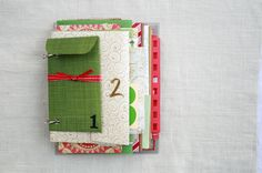 The Creative Place: DIY:: Advent Envelope Mini Book- fill envelopes with the Scripture reading/study for each day OR create one for the kids and include Advent activities/crafts/etc Handmade Christmas, Vintage Christmas, Christmas Crafts, Christmas Ideas, A Christmas Story, Christmas Colors, Envelope Book, Homemade Books, Advent Activities