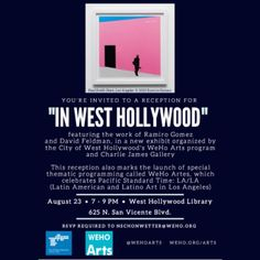 Join @wehoarts for the opening of our new exhibit at #weholibrary featuring the work of #RamiroGomez and #DavidFeldman 8/23 @wehocity #wehoarts #weho