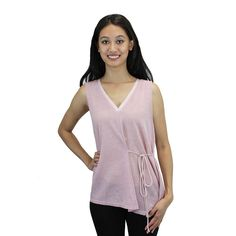 Relished Women's Sheer Sleeveless Leaf-print Top