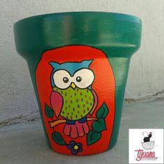 BUHITO Macetas pintadas a mano by tijuana almacen de diseño ❤