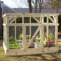 Learn how to build a garden enclosure.
