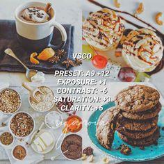 Instagram Themes Vsco, Instagram Design, Instagram Feed, Instagram Story, Best Vsco Filters, Vsco Themes, Photo Editing Vsco, Food Photography, Photography Editing