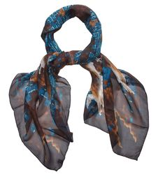 Slices London Silk Scarf - Moth. Slices London abstract printed scarves are pieces of wearable art. £172