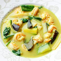 Zielone curry z krewetkami Wok, Thai Red Curry, Cantaloupe, Catering, Good Food, Meat, Chicken, Fruit, Ethnic Recipes