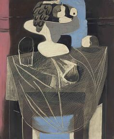 Pablo Picasso (Spanish, 1881-1973), Nature morte au filet de pêche [Still life with fishing net], Juan-les-Pins, summer 1925. Oil on canvas, 100.3 x 82.1cm.