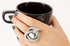 Cómo hacer un anillo con una cremallera - El blog de LosAbalorios.com