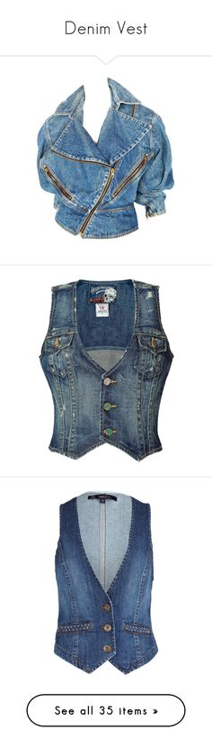 """""""Denim Vest"""" by saltless ❤ liked on Polyvore featuring outerwear, jackets, denim jacket, jeans jacket, tops, alaïa, blue jackets, blue jean jacket, jean jacket and vests Blue Jean Jacket, Jacket Jeans, Denim, Outerwear Jackets, Vests, Stuff To Buy, Shopping, Collection, Tops"""