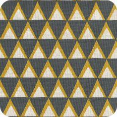 Kokka - triangles gris pour recouvrir le fauteuil du salon ?