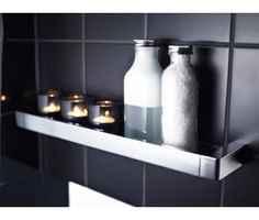 Hylly GBG G1, 39x450x83mm, kromi Bathroom Toilets, Washroom, Bathroom Accessories, Candle Sconces, Floating Shelves, Wall Lights, Bottle, Design, Home Decor