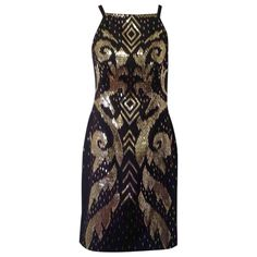 black Polyester GIANNI VERSACE Dress - Vestiaire Collective