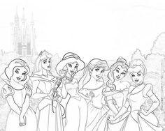 37 mejores imágenes de colorear princesas coloring pages