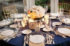 Bridal Bliss Wedding: drop dead gorgeous navy, blush, and champagne color palette created an elegant and preppy look.
