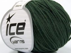 Fiber Content 50% Acrylic, 50% Cotton, Brand ICE, Dark Green, Yarn Thickness 3 Light  DK, Light, Worsted, fnt2-54667 Ice Yarns, Fiber, Content, Green