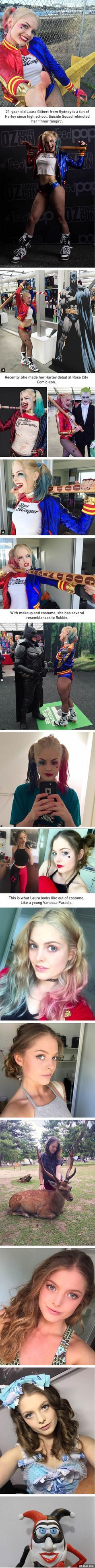 Among All The Harley Quinn Cosplays Out There, This Might Be The Closest One, at least to the Suicide Squad movie one Supergirl Injustice, Supergirl Serie, Supergirl Kara, Harley Quinn Disfraz, Joker Y Harley Quinn, Harley Quinn Cosplay, Cosplay Anime, Best Cosplay, Cosplay Girls