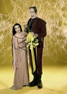 Herman and Lily Munster Herman Munster, Lily Munster, Yvonne De Carlo, The Munsters, Adams Family, Tv Land, Tv Guide, Music Tv, Wizard Of Oz