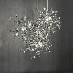 Argent Suspension Light by Terzani Luxury Lighting, Modern Lighting, Lighting Design, Lighting Ideas, Pendant Lamp, Pendant Lighting, Unique Chandelier, Art En Acier, Ceiling Lamp