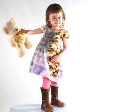 Купить Войлочное платье для малышки. Мультиколор - платье для девочки, платье из войлока, шерстяная одежда