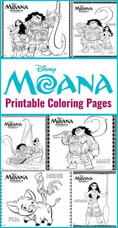 Free Printables - Moana Coloring Pages DIsney