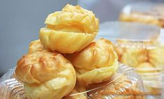 Vietnamese Food: Choux Pastry with Fresh Milk Filling Recipe (Bánh ...