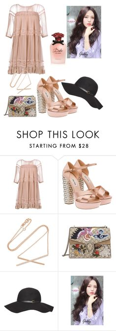 """Untitled #120"" by rosemaryon on Polyvore featuring N°21, Miu Miu, Carbon & Hyde, Gucci, Dorothy Perkins, kitsch holiday and Dolce&Gabbana"