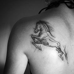 Horse for Nella #tattoo #tattoos #blackwork #blackworkers #ink #inkedgirl #inkedgirls #sketchtattoo #warsaw #polishgirl #poland #horse #horsetattoo #horsetattoodesign
